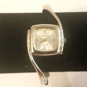 KABANA Silver Ladies Square Face Watch